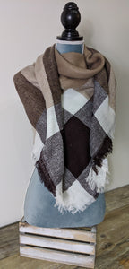 Blanket Scarf- Browns