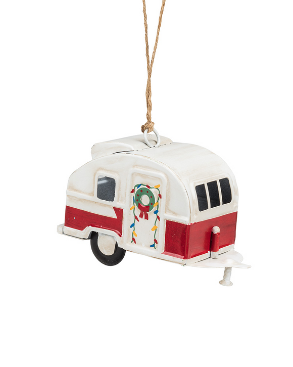 White/Red Camper