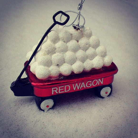 Red Wagon w/Snowballs