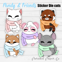 Pandy and Friends - Sticker Die Cut - Scarf