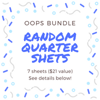 Oops - Quarter Sheet Bundle