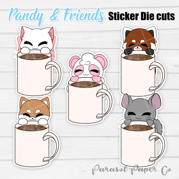 Pandy and Friends - Sticker Die Cut - Mug