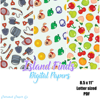 Island Finds - Digital Paper Pack