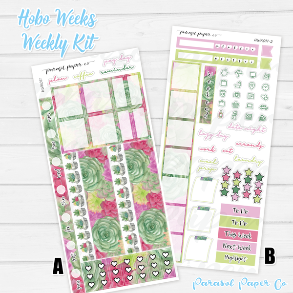 Hobo Weeks Kits | 011 | Warm Succulents