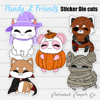 Pandy and Friends - Sticker Die Cut - Halloween Costume