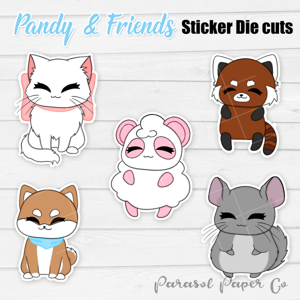 Pandy and Friends - Sticker Die Cut - Full Body
