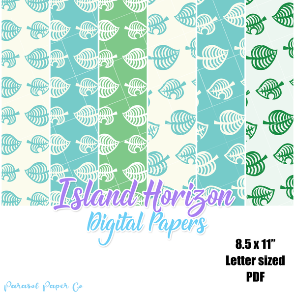 Island Horizon - Digital Paper Pack