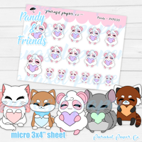 Pandy and Friends - Pastel Heart - PF035