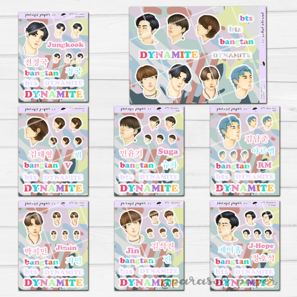 BTS DYNAMITE Sticker Sheet