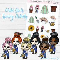 Chibi Girl - Spring Activity