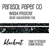 Preorder ghouls blackout foiled washi set crystalize