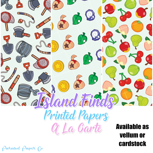 Island Finds - Printed Papers - a la carte