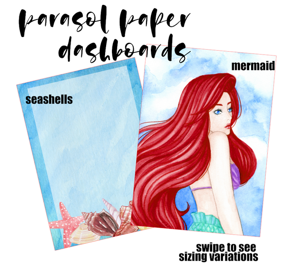 Ariel Illustration - Printed Dashboard