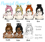 Planner Girl Illustration - Printed Dashboard