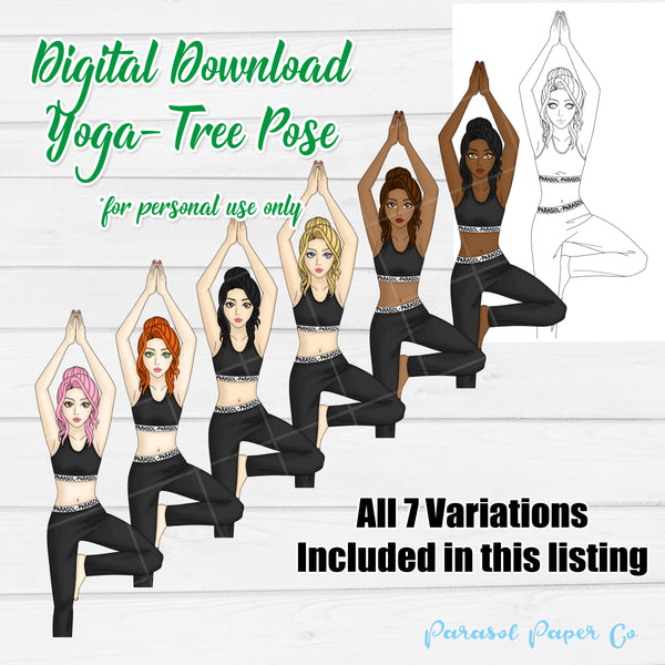 Digital Download - Yoga- Tree Pose