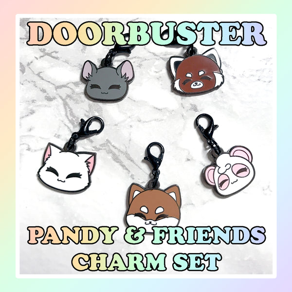 SUNDAY 10/11 9am PST DOORBUSTER - Pandy and Friends Charm Set