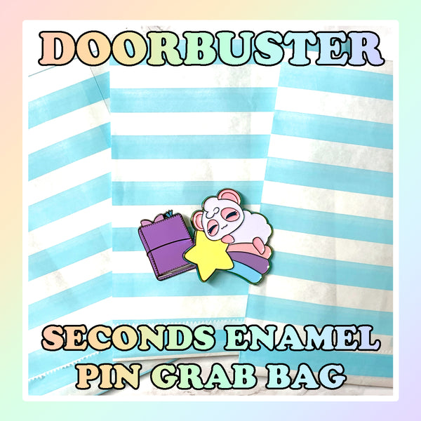 SATURDAY 10/10 9am PST DOORBUSTER - Seconds Enamel Pins Grab Bag