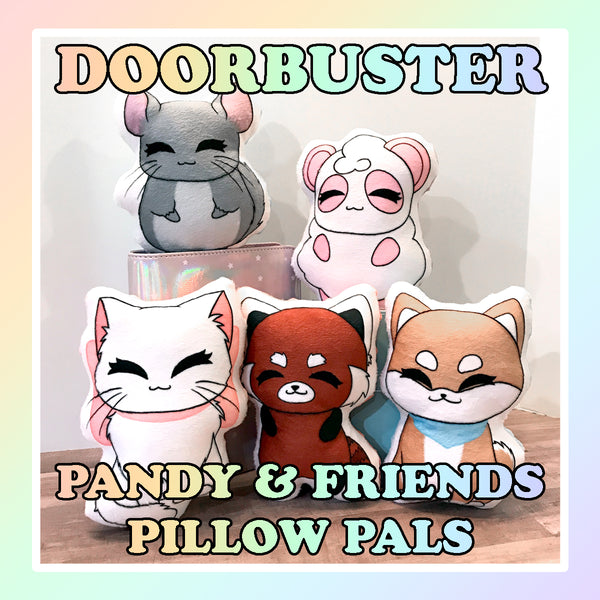 FRIDAY 10/9- 9am PST DOORBUSTER - Pandy and Friends Pillow Pals