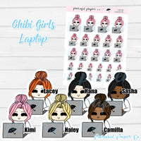 Chibi Girl - Laptop