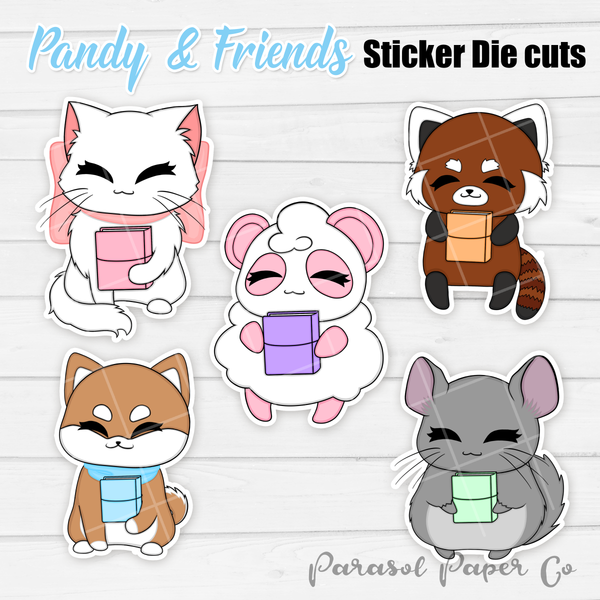 Pandy and Friends - Sticker Die Cut - Planner
