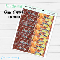 F016 - Hello Fall Date Covers