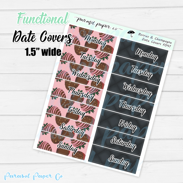 F041 - Strawberries & Champagne Date Covers