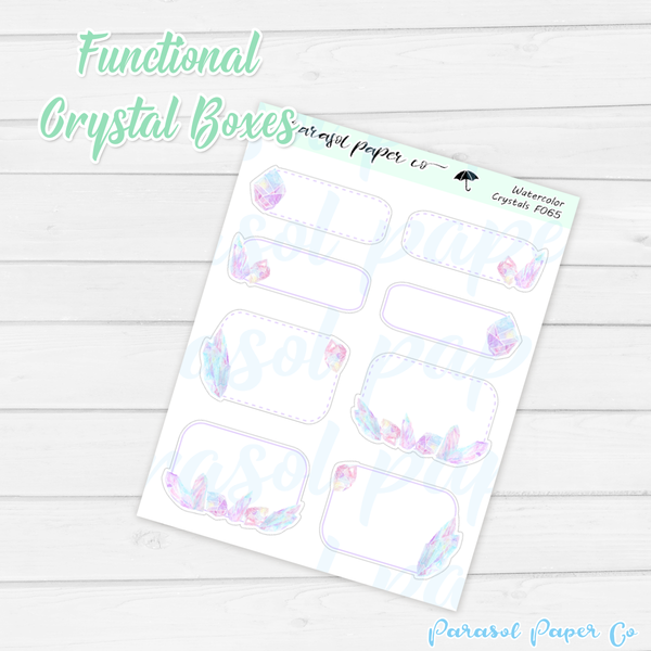 F065 - Watercolor Crystals Boxes