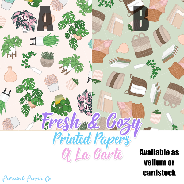 Fresh & Cozy - Vellum and Cardstock Papers