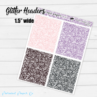 Ghouls Night Out - Glitter Headers
