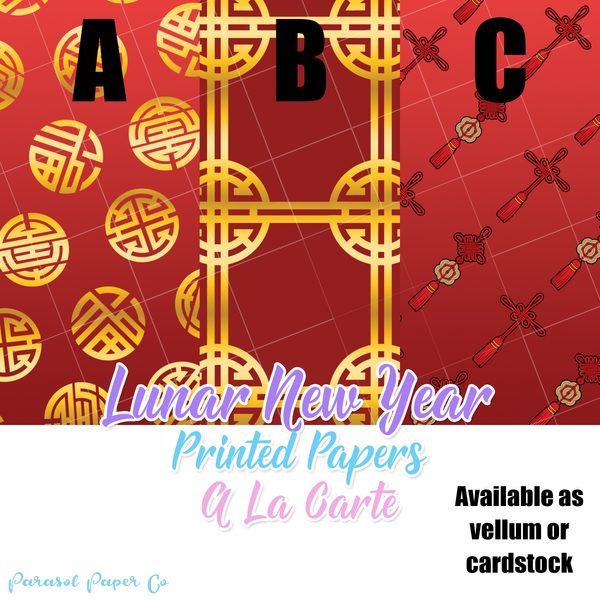 Lunar New Year - Printed Papers - a la carte