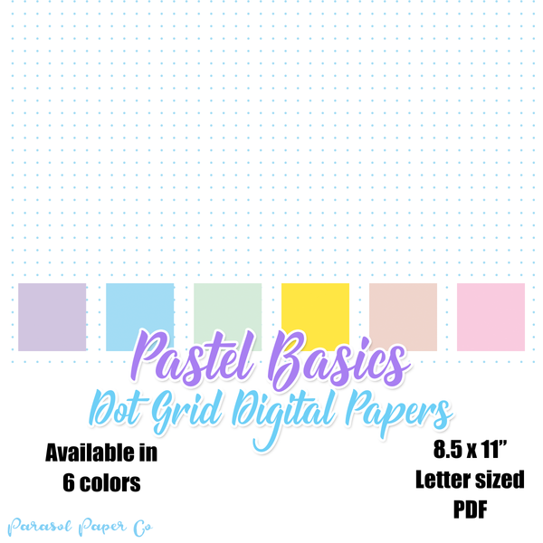 Pastel Basics - Dot Grid Digital Papers