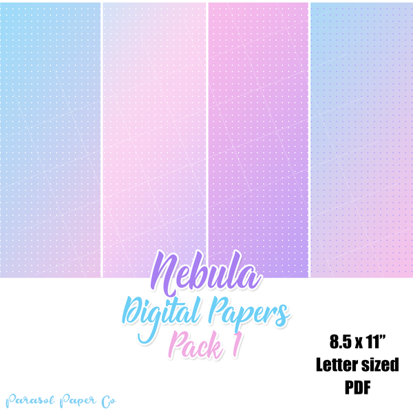 Nebula - Digital Dot Grid Papers - Pack 1
