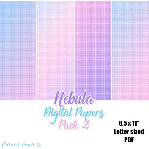 Nebula - Digital Grid Papers - Pack 2