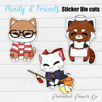 Pandy and Friends - Sticker Die Cut - Kiki's Delivery Service