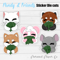 Pandy and Friends - Sticker Die Cut - Money