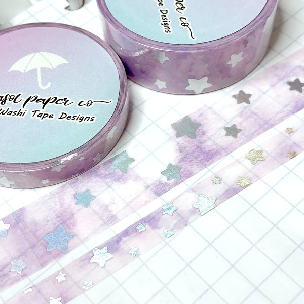 Cloudy Skies Foiled Washi Set