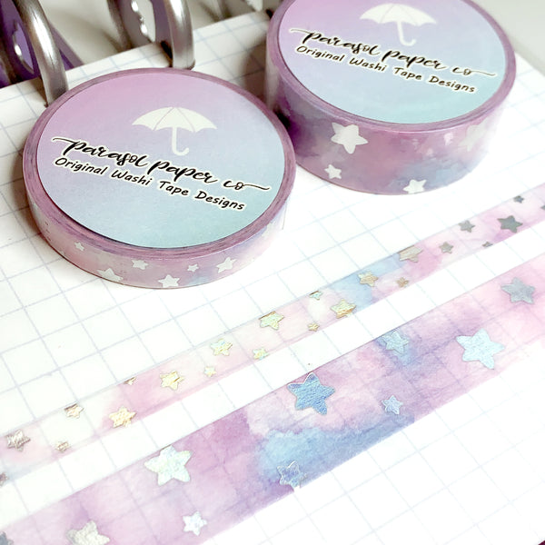 Cotton Candy Skies Foiled Washi Set