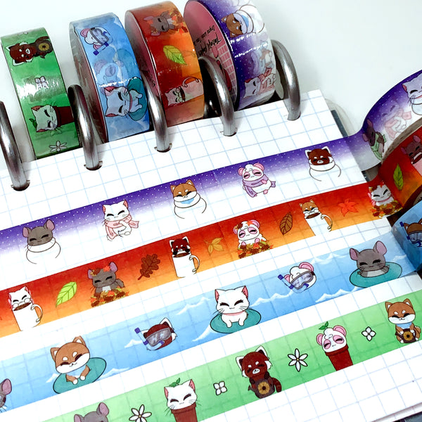 Pandy and Friends Seasonal Washi Set