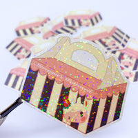[WATER-RESISTANT] ACNH Merengue's Patisserie Cake Box Holographic Sticker Decal