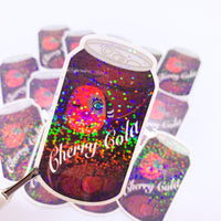 [WATER-RESISTANT] ACNH Cherry Cola Holographic Sticker Decal