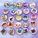 ACNH Villager Pin Back Button