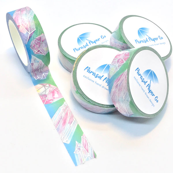 Daybreak Shattered Crystals Foiled Washi Tape