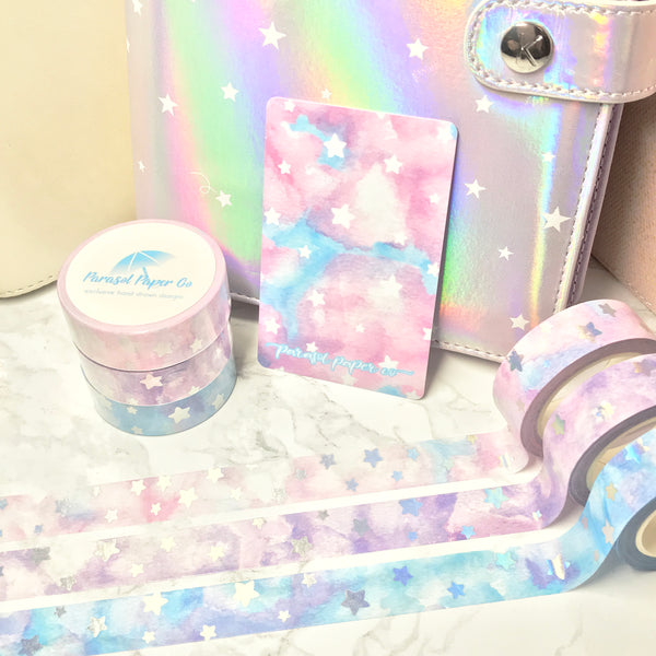 [SET] Cotton Candy + Cloudy + Misty Skies Foiled Washi Set- 2 PER PERSON LIMIT