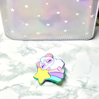 Rainbow Shooting Star Pandy Enamel Pins