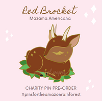 [CHARITY] Red Brocket - Amazon Rainforest Charity Pin