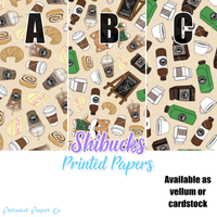 Shibucks Coffee - Vellum and Cardstock Papers