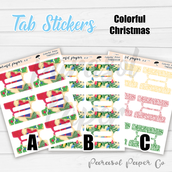 T003 - Colorful Christmas Tabs