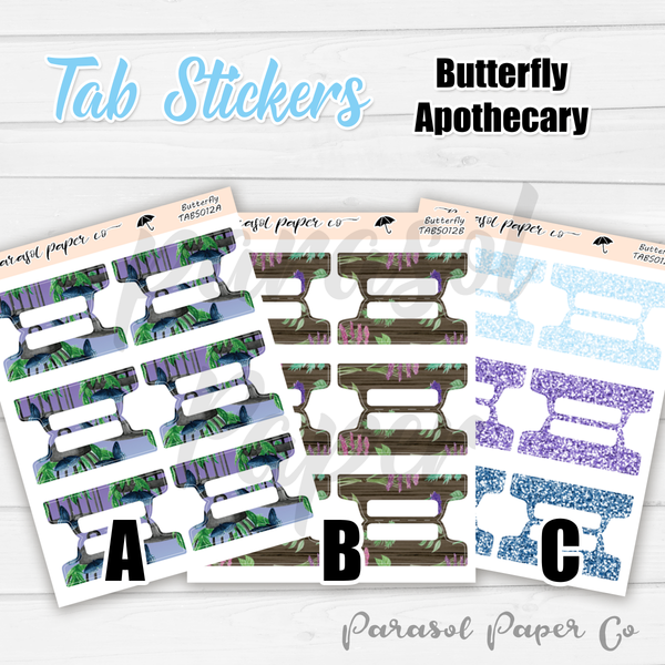 T012 - Butterfly Apothecary Tabs