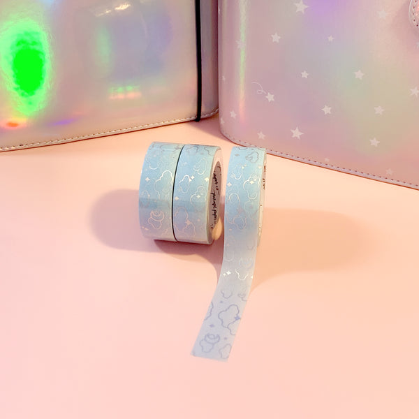 Frosty Moonlight Foiled Washi Tape