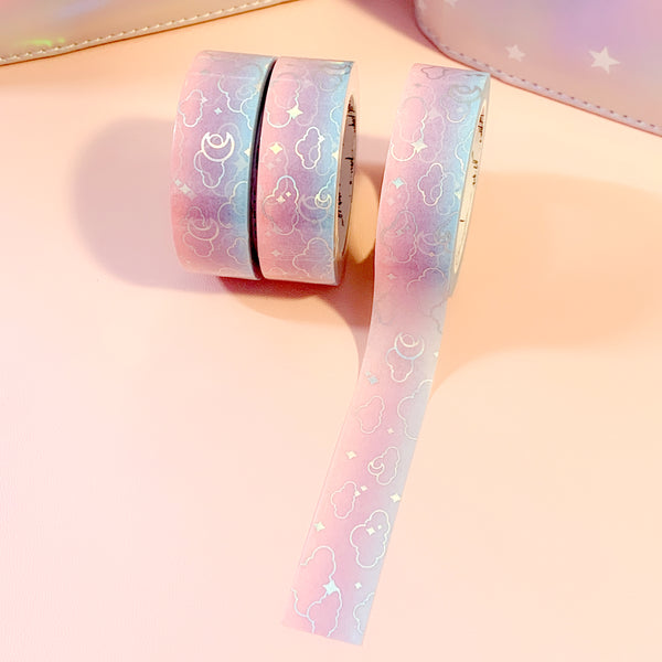 Cotton Candy Moonlight Foiled Washi Tape